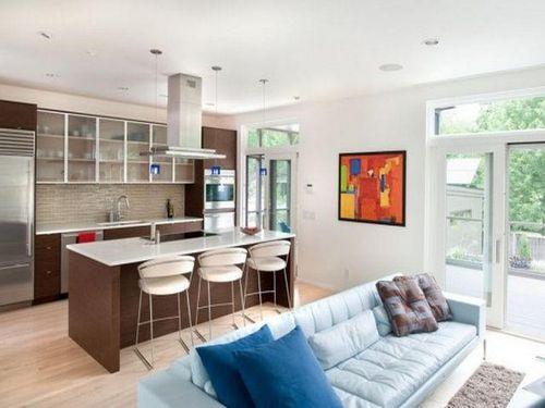 Дизайн гостиной с кухней своими руками Интерьерные штучки