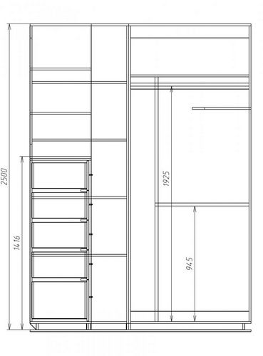Схема гардероба своими руками чертежи 119