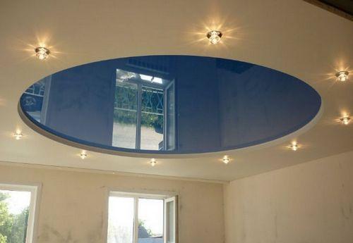 Круглый натяжной потолок - варианты и особенности композиции