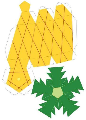 Объемные поделки из бумаги фигуры и схемы как распечатать