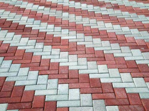 Варианты укладки тротуарной плитки кирпич - популярные схемы