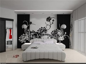 Фото интерьеров с уникальным использованием трафаретов, сделанных своими руками, для украшения стен