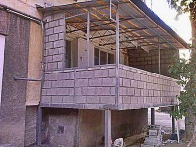Пристроенный балкон своими руками