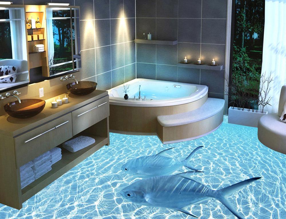 пол в ванной 3 д фото