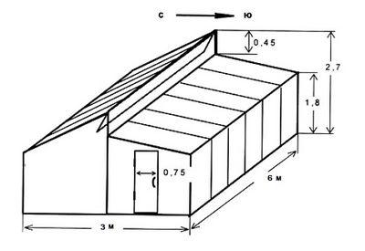 чертеж теплицы 6х3