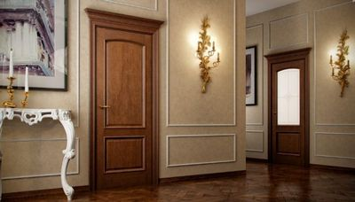 Особенности и преимущества межкомнатных шпонированных дверей