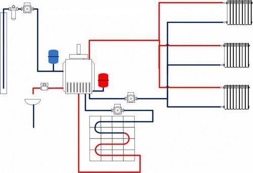 Схема системы отопления. Общий вид