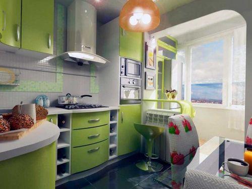 """Шикарная кухня совмещенная с балконом"""" - карточка пользовате."""